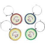 Easter Bunny Wine Charms (Set of 4) (Personalized)