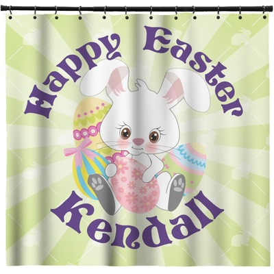 Easter Bunny Shower Curtain (Personalized)