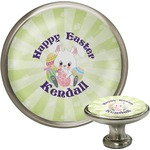 Easter Bunny Cabinet Knob (Silver) (Personalized)