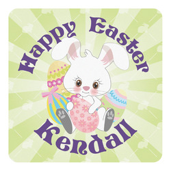 Easter Bunny Square Decal - Custom Size (Personalized)