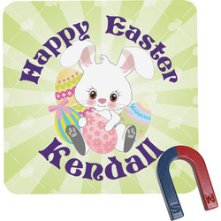 Easter Bunny Square Fridge Magnet (Personalized)