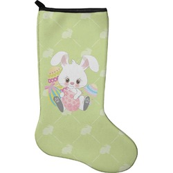 Easter Bunny Christmas Stocking - Neoprene (Personalized)