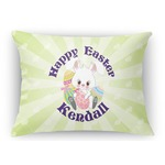 Easter Bunny Rectangular Throw Pillow (Personalized)