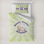 Easter Bunny Toddler Bedding w/ Name or Text