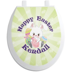 Easter Bunny Toilet Seat Decal (Personalized)