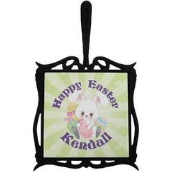 Easter Bunny Trivet with Handle (Personalized)