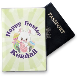 Easter Bunny Vinyl Passport Holder (Personalized)