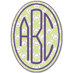 Easter Bunny Monogram Decal - Custom Sizes (Personalized)