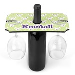 Easter Bunny Wine Bottle & Glass Holder (Personalized)