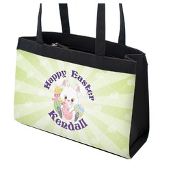 Easter Bunny Zippered Everyday Tote w/ Name or Text