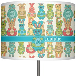 "Fun Easter Bunnies 13"" Drum Lamp Shade (Personalized)"