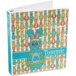 Fun Easter Bunnies 3-Ring Binder (Personalized)