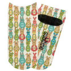 Fun Easter Bunnies Adult Ankle Socks (Personalized)