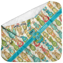 Fun Easter Bunnies Baby Hooded Towel (Personalized)