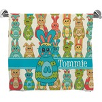 Fun Easter Bunnies Full Print Bath Towel (Personalized)