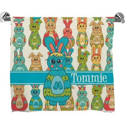 Fun Easter Bunnies Bath Towel (Personalized)