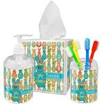 Fun Easter Bunnies Acrylic Bathroom Accessories Set w/ Name or Text