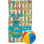 Fun Easter Bunnies Beach Towel (Personalized)
