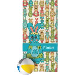 Fun Easter Bunnies Beach Towel (Personalized)