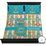 Fun Easter Bunnies Duvet Cover Set (Personalized)