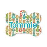 Fun Easter Bunnies Bone Shaped Dog ID Tag (Personalized)