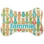 Fun Easter Bunnies Bone Shaped Dog Food Mat (Personalized)
