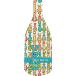 Fun Easter Bunnies Bottle Shaped Cutting Board (Personalized)