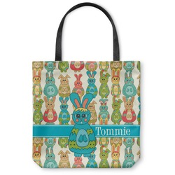 Fun Easter Bunnies Canvas Tote Bag (Personalized)