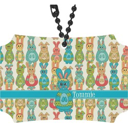 Fun Easter Bunnies Rear View Mirror Ornament (Personalized)