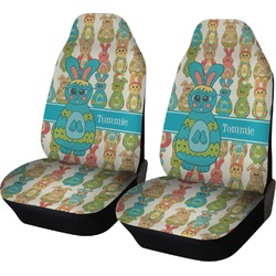 Fun Easter Bunnies Car Seat Covers (Set of Two) (Personalized)