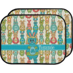 Fun Easter Bunnies Car Floor Mats (Back Seat) (Personalized)