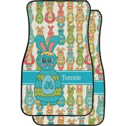 Fun Easter Bunnies Car Floor Mats (Front Seat) (Personalized)