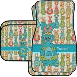 Fun Easter Bunnies Car Floor Mats Set - 2 Front & 2 Back (Personalized)