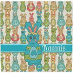 Fun Easter Bunnies Ceramic Tile Hot Pad (Personalized)