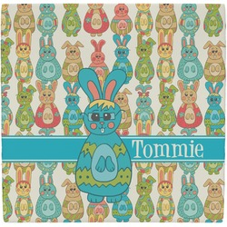 Fun Easter Bunnies Ceramic Tile Hot Pad (Personalized)