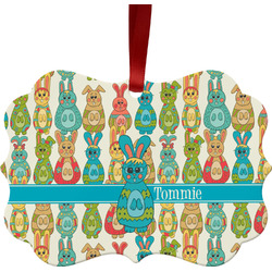 Fun Easter Bunnies Ornament (Personalized)