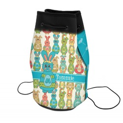 Fun Easter Bunnies Neoprene Drawstring Backpack (Personalized)