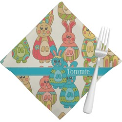 Fun Easter Bunnies Cloth Napkins (Set of 4) (Personalized)