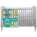 Fun Easter Bunnies Crib Comforter / Quilt (Personalized)