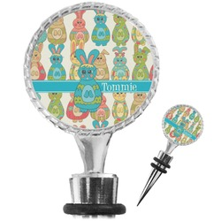 Fun Easter Bunnies Wine Bottle Stopper (Personalized)