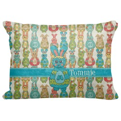 "Fun Easter Bunnies Decorative Baby Pillowcase - 16""x12"" (Personalized)"