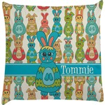 Fun Easter Bunnies Decorative Pillow Case (Personalized)