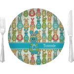 """Fun Easter Bunnies Glass Lunch / Dinner Plates 10"""" - Single or Set (Personalized)"""