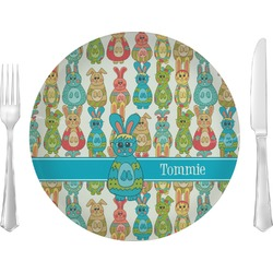 Fun Easter Bunnies Dinner Plate (Personalized)