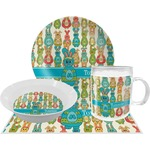 Fun Easter Bunnies Dinner Set - 4 Pc (Personalized)