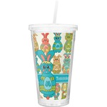 Fun Easter Bunnies Double Wall Tumbler with Straw (Personalized)