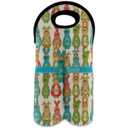 Fun Easter Bunnies Wine Tote Bag (2 Bottles) (Personalized)