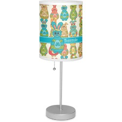 """Fun Easter Bunnies 7"""" Drum Lamp with Shade (Personalized)"""