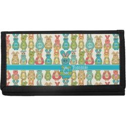 Fun Easter Bunnies Canvas Checkbook Cover (Personalized)