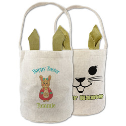 Fun Easter Bunnies Easter Basket (Personalized)